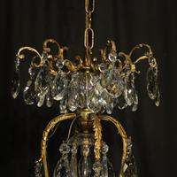 French Gilded Bronze Crystal Antique Chandelier (3 of 10)