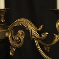 French Gilded Bronze 6 Light Chandelier c.1930 (5 of 10)
