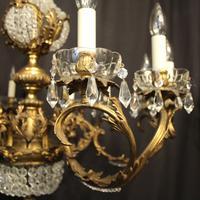 Italian 12 Light Gilded Bronze Antique Chandelier (2 of 10)