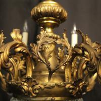 Italian 12 Light Gilded Bronze Antique Chandelier (5 of 10)