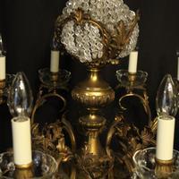 Italian 12 Light Gilded Bronze Antique Chandelier (6 of 10)