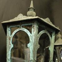 English Pair of Bronze Antique Wall Lanterns (4 of 14)