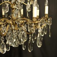 Italian Gilded Bronze 12 Light Antique Chandelier (2 of 10)