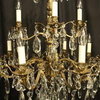 Italian Gilded Bronze 12 Light Antique Chandelier (3 of 10)