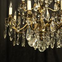 Italian Gilded Bronze 12 Light Antique Chandelier (4 of 10)