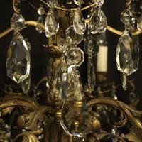 Italian Gilded Bronze 12 Light Antique Chandelier (5 of 10)