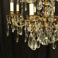 Italian Gilded Bronze 12 Light Antique Chandelier (6 of 10)