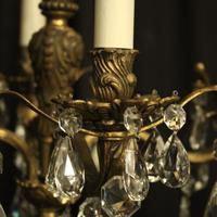 Italian Gilded Bronze 12 Light Antique Chandelier (8 of 10)