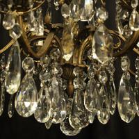 Italian Gilded Bronze 12 Light Antique Chandelier (9 of 10)