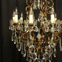 Italian Gilded & Crystal Bird Cage Antique Chandelier (2 of 10)
