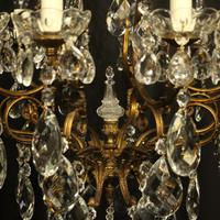 Italian Gilded & Crystal Bird Cage Antique Chandelier (6 of 10)
