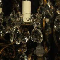 Italian Gilded & Crystal Bird Cage Antique Chandelier (9 of 10)