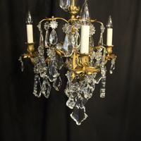 French Triple Light Bronze Antique Chandelier (2 of 10)