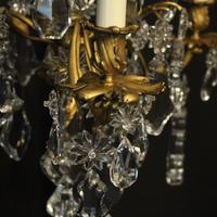 French Triple Light Bronze Antique Chandelier (3 of 10)