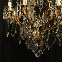 French Gilded 9 Light Antique Chandelier (2 of 15)