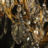 French Gilded 9 Light Antique Chandelier (3 of 15)