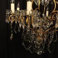 French Gilded 9 Light Antique Chandelier (4 of 15)
