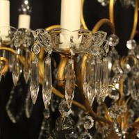 French Gilded 9 Light Antique Chandelier (5 of 15)
