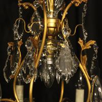 French Gilded 9 Light Antique Chandelier (8 of 15)