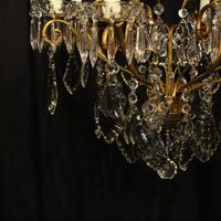 French Gilded 9 Light Antique Chandelier (9 of 15)