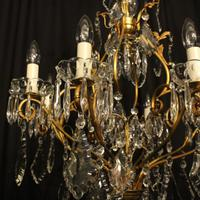 French Gilded 9 Light Antique Chandelier (10 of 15)