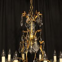 French Gilded 9 Light Antique Chandelier (12 of 15)