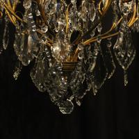 French Gilded 9 Light Antique Chandelier (13 of 15)