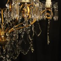 French Gilded 9 Light Antique Chandelier (14 of 15)
