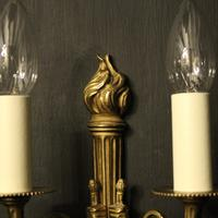 French Gilded Brass Twin Arm Lights (2 of 10)