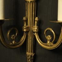 French Gilded Brass Twin Arm Lights (5 of 10)