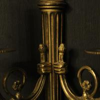 French Gilded Brass Twin Arm Lights (6 of 10)