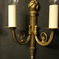French Gilded Brass Twin Arm Lights (8 of 10)