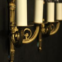 French Gilded Brass Twin Arm Lights (9 of 10)