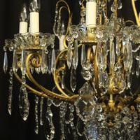 French Gilded Bronze Cage Antique Chandelier (2 of 10)