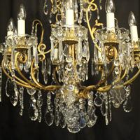 French Gilded Bronze Cage Antique Chandelier (3 of 10)
