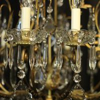 French Gilded Bronze Cage Antique Chandelier (4 of 10)