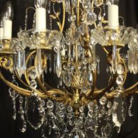 French Gilded Bronze Cage Antique Chandelier (7 of 10)
