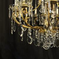 French Gilded Bronze Cage Antique Chandelier (8 of 10)