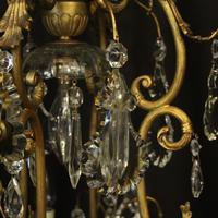 French Gilded Bronze Cage Antique Chandelier (10 of 10)