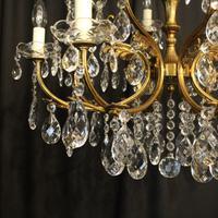 Italian Gilded 12 Light Antique Chandelier (9 of 10)