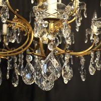 Italian Gilded 12 Light Antique Chandelier (10 of 10)