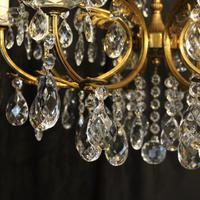 Italian Gilded 12 Light Antique Chandelier (3 of 10)