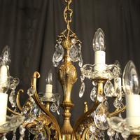 Italian Gilded 12 Light Antique Chandelier (5 of 10)