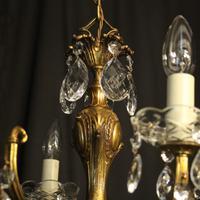 Italian Gilded 12 Light Antique Chandelier (6 of 10)