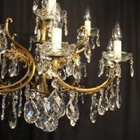 Italian Gilded 12 Light Antique Chandelier (7 of 10)