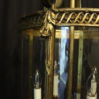 French Bronze Four Light Antique Lantern (6 of 11)