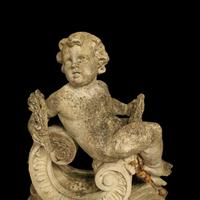 French Pair of Composition Reclining Cherubs (4 of 9)