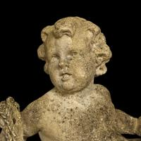 French Pair of Composition Reclining Cherubs (5 of 9)
