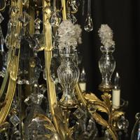 French Gilded Bronze & Crystal Antique Chandelier (8 of 10)
