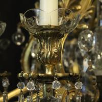 French Gilded Bronze & Crystal Antique Chandelier (9 of 10)